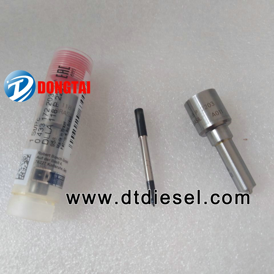 BOSCH COMMON RAIL NOZZLE DLLA118P2203 (0433172203) FOR INJECTOR 0445120236